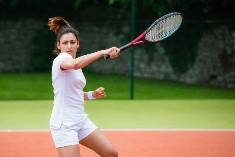 adult tennis player at brickway tennis and pickleball club
